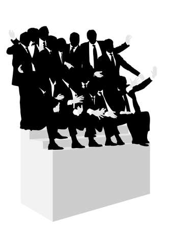 introduction of the business team Stock Vector - 3548810