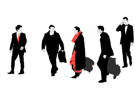 illustration of important hotel guests arriving Vector