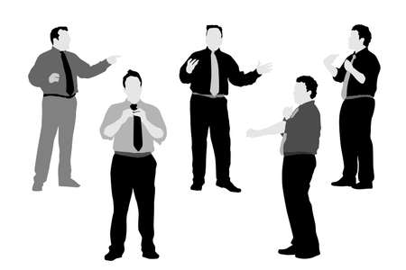 man gesturing silhouettes, vector collection Stock Vector - 3822040