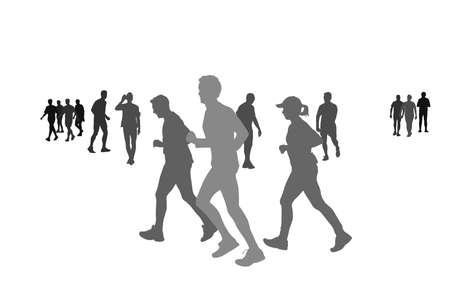 runners: vector illustration of grassroots level sport Illustration