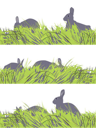 vector set of  eastern  bunny motif Stock Vector - 4005868