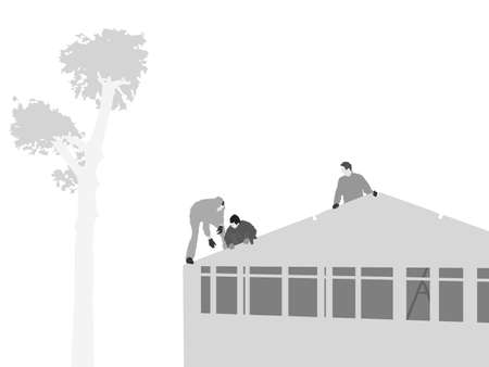 vector illustration of  house roofing
