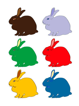 easter bunny collection for designers Stock Vector - 4011757