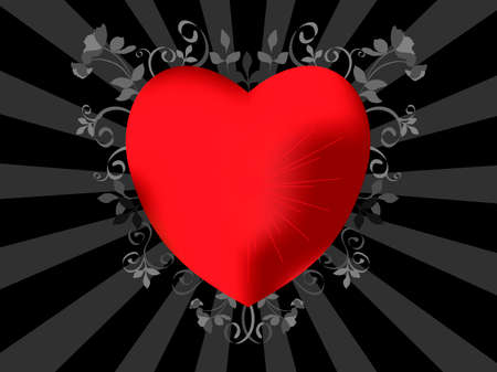 valentine emo heart   vector illustration Vector