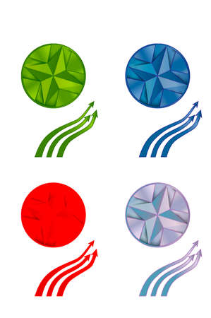 Collection of circles and arrows Vector