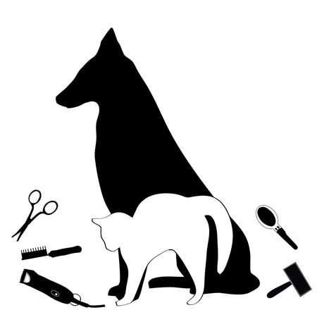 pet grooming salon business card