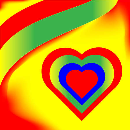 vibrant colorful abstract  heart  vector Vector