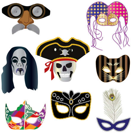 Collection of masks for designers Vector
