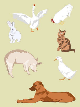 farm animals - collection for designers  1