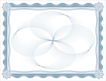 blank certificate template Illustration
