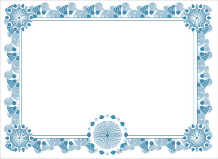 blank diploma template Stock Vector - 4344918
