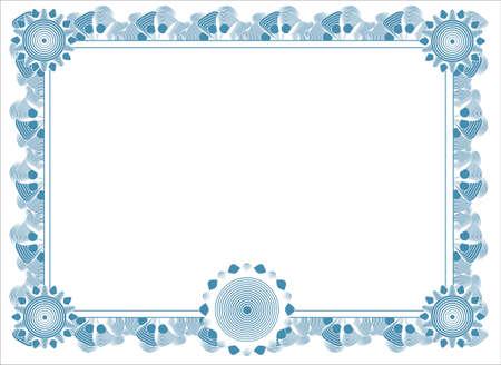 pusty szablon dyplomu Zdjęcie Seryjne - 4344918