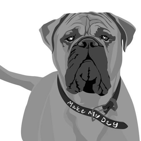 beware of dog sign, vector Stock Vector - 4368751