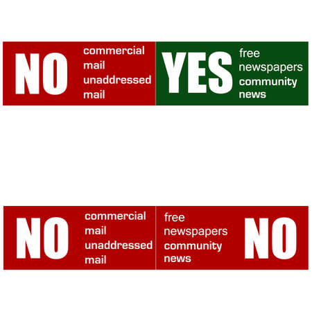 mail preference stickers Vector