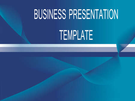 blue abstract business presentation template  Stock Vector - 4457586