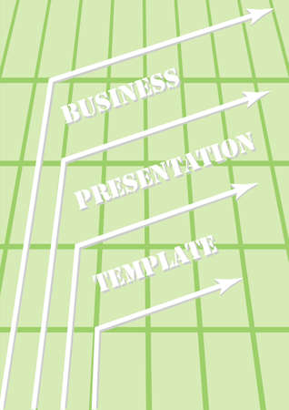 Abstract Green Business Presentation Template Vector