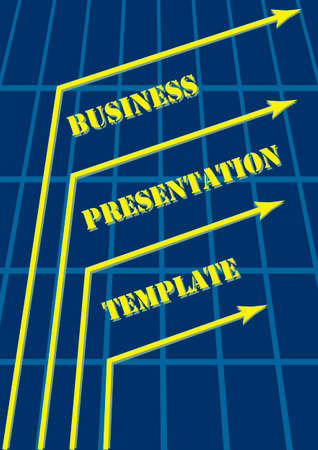 Abstract Blue Business Presentation Template Vector