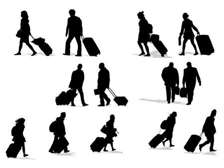 passenger silhouettes, collection for designers Stock Vector - 4567094