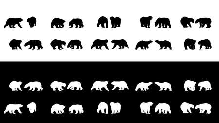 extinction: polar bear silhouettes collection