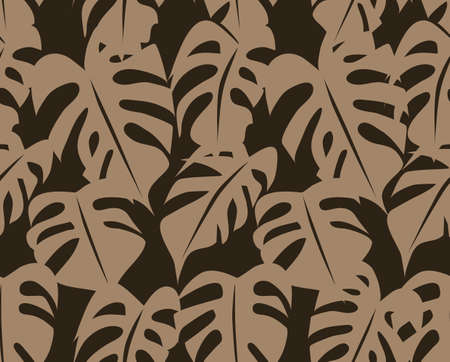 monstera: Tropical Retro Seamless Foliage Pattern