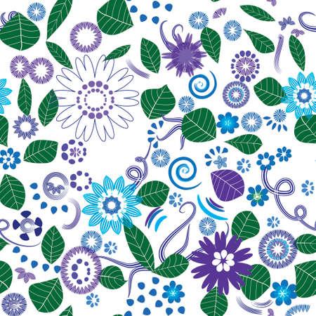 Midsummer Dream Repeating Pattern,Vector Illustration Vector