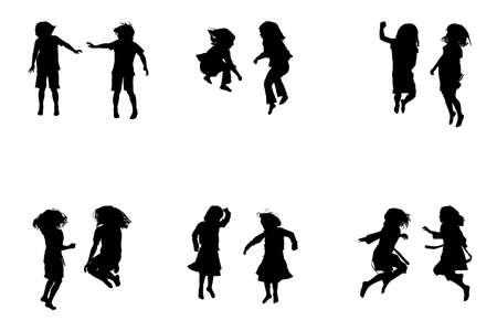 kids jumping collection, for designers Illustration