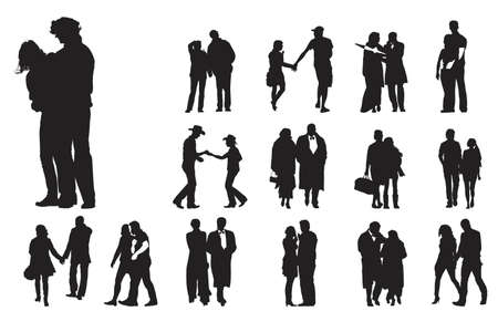 partners: fifteen couples , collection for designers Illustration