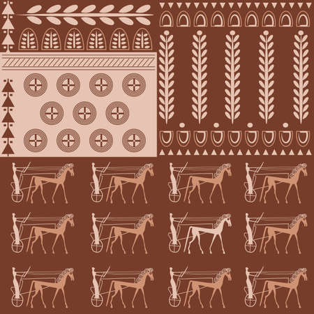 antiquities: Seamless Vector Pattern on an Ancient Greek Theme Illustration
