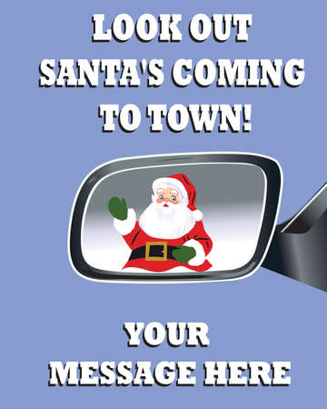 Santa's Coming to Town Poster - Vector Illustration Stock Vector - 5310150