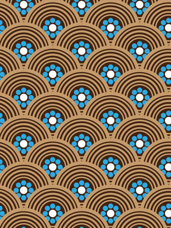 repeating: Ripetendo Stylish Pattern Vector Background Vettoriali