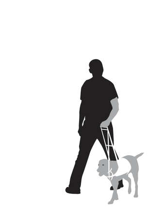 seeing-eye dog at work Vector