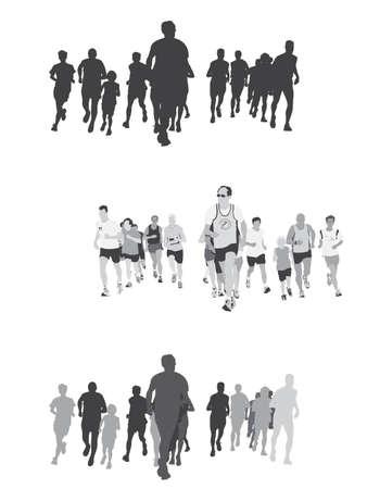 personas corriendo: gran grupo de gente corriendo