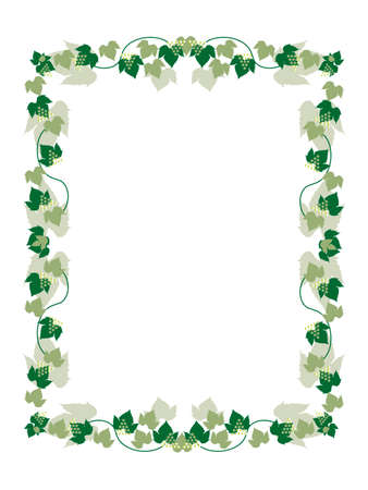 grapevine frame  Stock Vector - 5458764