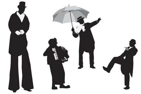 entertainer silhouettes collection Vector