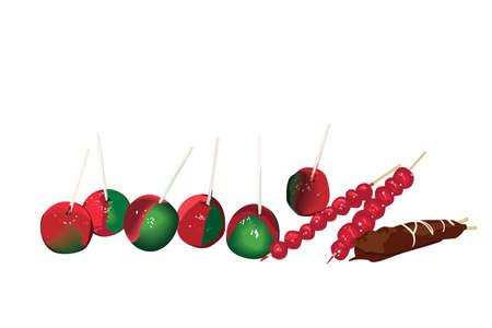 sugar coated fruit Stock Vector - 5810386