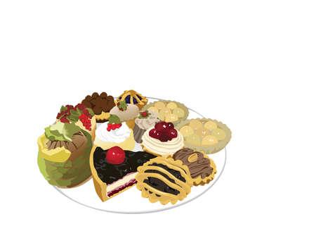 fruitcakes: colorful cakes