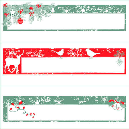 Christmas Banners with Copy Space Stock Vector - 5959488