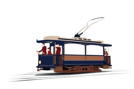chef d orchestre: tram Vintage Illustration