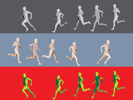 group of  people running  Vector