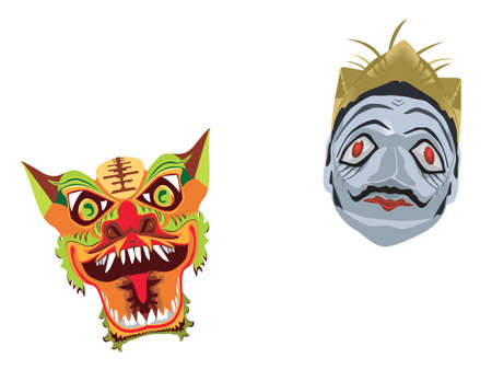 2 face masks Vector