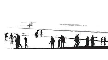 seacoast: sunset paddling by the beach