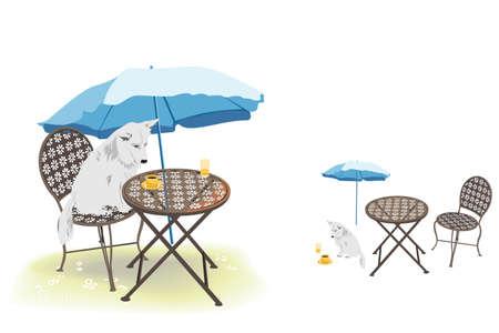 porch chair: leisure   Illustration