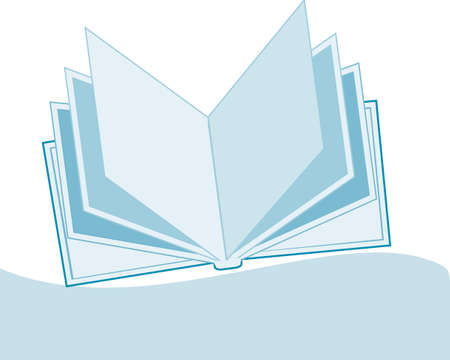 open book with copy-space Stock Vector - 6663323