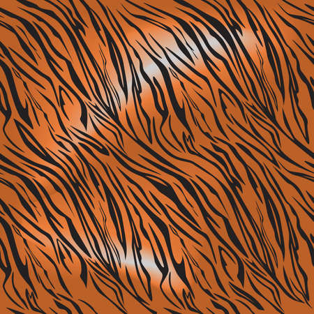 tigres: Tigre fourrure motif motif de r�p�tition Illustration