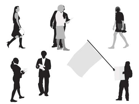 people holding paper Vector