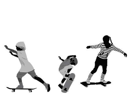 little skaters Vector
