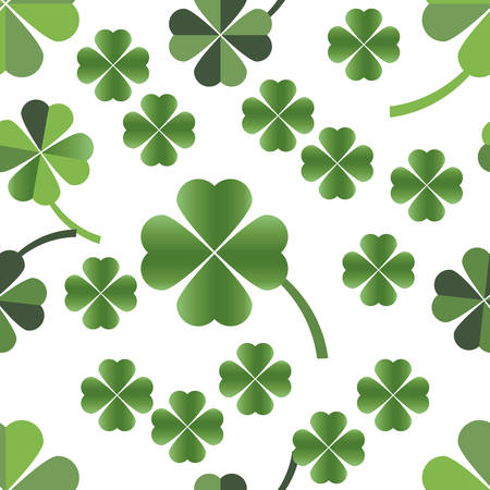 Four leaves clover seamless pattern Vector