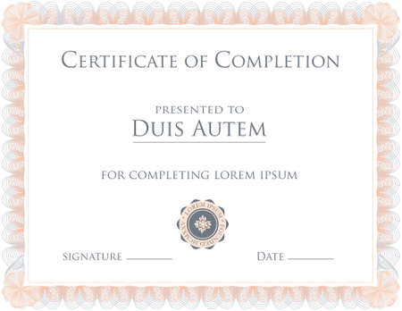 elaborate: Award Certificate Template