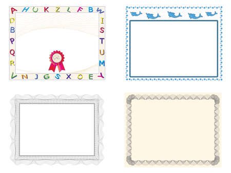 Four Certificate of Completion Templates Stock Vector - 7223523