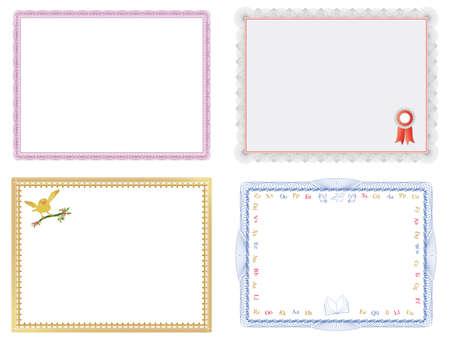 kiválóság: Four Certificates of Completion Templates